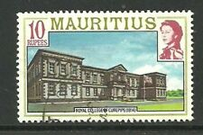 Album Treasures Mauritius  Scott # 461  10r Elizabeth Royal College  VF Used CDS