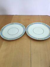 Lot Of 2 Community NOBLESSE (PINK BLUE GREEN GOLD) Cream Soup Saucers Bavaria