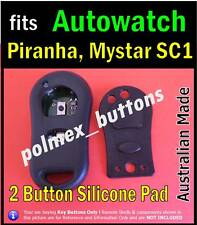 fits Autowatch Piranha Maystar remote car immobiliser -Repair 2 key Buttons Pad