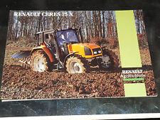 Prospectus  Tracteur RENAULT CERES 75 X    prospekt brohcure traktor tractor