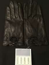Black leather gloves bow detail Brand New Avon Cosmetics