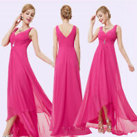 Ever-Pretty US Long Hot Pink Bridesmaid Dress Evening Party Prom Ball Gown 09983