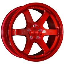"18"" BOLA B1 ALLOY WHEELS FITS MAZDA NISSAN MITSUBISHI 5X114.3 CANDY RED"