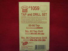 Kadee Hobby Tools:  Tap and Drill Set #1059 for 00-90 machine screws