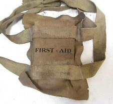 Airborne Helmet First Aid Pouch Pack USA WW2 US Paratrooper WWII M1 M2 M1C Aged