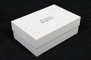 """SCATOLA CONFEZIONE LUSSO - SHOES BOX """"ALEXANDER MCQUEEN"""" ORIGINALE (33x25x12)"""