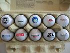 Lot XVIII Konvolut 10 verschiedene Golfbälle mit Logo Schwerpunkt AT-Motive