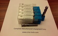 "10pcs 3/8""x1x2-1/2 Solid Carbide End Mills,4flt s/e,center-cuting #1006-38-new"