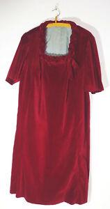 Vintage Velvet Dress Women's Fashion 1920er 1930er Years Red Dress Art Deco