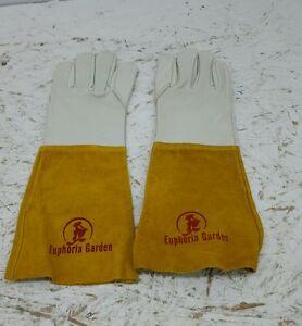 Euphoria Garden Premium Protection Leather Gardening Gloves by Euphoria for Men