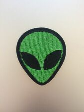 Green Alien Patch 5cm - Embroidered/Iron/Sew/Stitch/Glue On - Cute Fun - P12