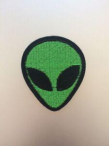 Green Alien Patch 5cm - Embroidered/Iron/Sew/Stitch/Glue On - Cute Fun - P12