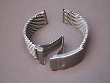 Aristo Fliegeruhr Milanaise Edelstahl Uhrenband Sandgestrahlt 22 mm Höhe 3,3 mm