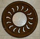 Antique 2 Piece Ornate Cast Iron Stove Pipe Collar Heat Ring Vent Grate E