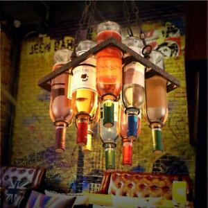 Retro Wine Bottle Chandelier Ceiling Light Chandelier