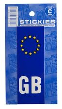 Number Plate Sticker - Blue - Euro Plate & GB - CASTLE PROMOTIONS- V370