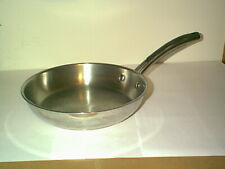 "NICE FARBERWARE MILLENNIUM STAINLESS STEEL 10"" SKILLET WITH TRI PLY DISC BOTTOM"