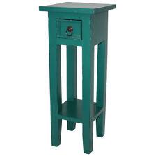 KMH® Telefontisch Telefonkonsole Blumentisch Beistelltisch Tisch Holz grün