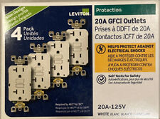 LEVITON GFNT2-4W GFI GFCI 20A GFI OUTLET WHITE 4-PACK NEW