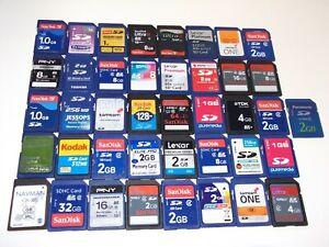 51 X SANDISC PANASONIC TOMTOM KODAK ETC. SDHC MEMORY SD CARD JOBLOT