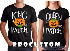 King and Queen of the Patch Halloween Couple matching funny cute T-Shirts