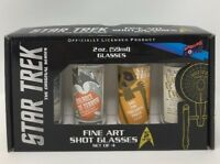 Bif Bang Pow! Star Trek The Original Series Fine Art Shot Glasses Set of 4
