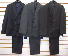 Boys Arrow $85 - $100 2pc Pin Striped Navy, Gray, or Black Suits Size 8 - 20