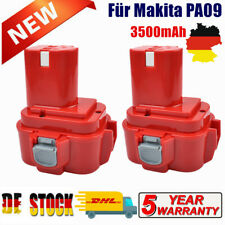 2× Akku für Makita 9120 PA09 9.6 Volt 3500mAH Ni-MH 9100 9122 9133 9134 9135 DE