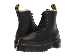 Women's Shoes Dr. Martens JADON FAUX FUR Leather Platform Boots 25637001 BLACK