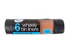 Wheelie Bin Liners 6 Pack - Strong Big Extra Large Long Refuse Sack Rubbish