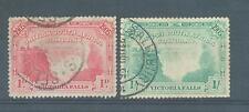 Rhodésie 1905 CHUTES VICTORIA 1d et 1/- sg.94, 97 Utilisé
