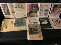 Lot Vintage Women Product  Print Ads Clairol Modess Cannon Stockings Helene Silk