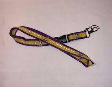 Basketball Los Angeles Lakers Lanyard ID Badge Holder Breakaway Clip Keychain