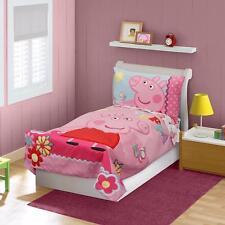 Pink Peppa Pig 4 Piece Toddler Bedding Set, Sheets, Pillowcase, Bedspread