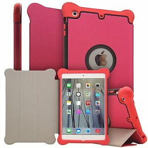 iPad Air 2 shockproof case with smart cover, Pink.