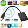 1080P USB 3.0 to HDMI Video Cable Adapter Converter Fr Windows PC Laptop HDTV TV