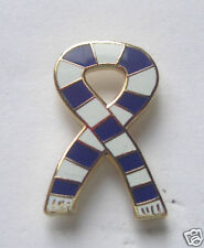 KILMARNOCK SPORTS SCARF BLUE & WHITE ENAMEL LAPEL PIN BADGE