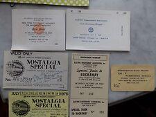 6 Era 1960s Special Subway Tickets Coney Island Rockaway Don Harold