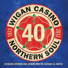 WIGAN CASINO ( NEW 2 CD SET ) 40 ORIGINAL NORTHERN SOUL ANTHEMS 1973 - 2013