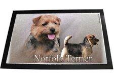 Designer Fussmatte Norfolk Terrier 2 Norfolkterrier Hundeteppich Fussabtreter