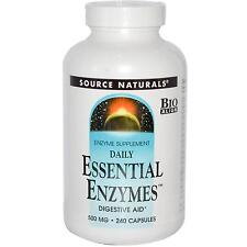 Source Naturals Daily Essential Enzymes - 240 - 500mg Capsules - Digestive Aid