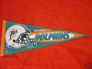 Miami Dolphins Team Helmet Logo pennant NFL