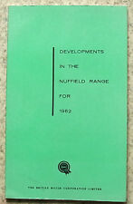 DEVELOPMENTS IN THE NUFFIELD RANGE 1962 Publication WOLSELEY HORNET Riley Elf