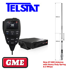 GME XRS 330  XRS-330C 5 Watt UHF CB + Uniden AT-880 6.5dBi heavy duty antenna