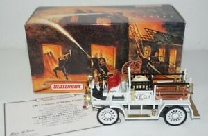 Matchbox Models of Yesteryear 1907 Seagrave AC53 Fire Engine Truck COA YFE21-M