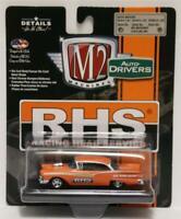 "M2 MACHINES Auto-Drivers R52 1957 Ford Fairlane 500 ""RHS RACING"" Orange Metallic"