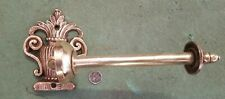 Toilet roll holder Cast brass French c1920 wow! Left Right upright stunning old