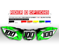 2016 - 2018 KXF 450 KAWASAKI NUMBER PLATE CUSTOM BACKGROUND GRAPHICS DECALS