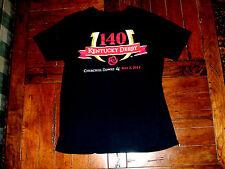 140 Kentucky Derby May 3, 2014 Churchill Downs Black T-Shirt Adult Small, Horse