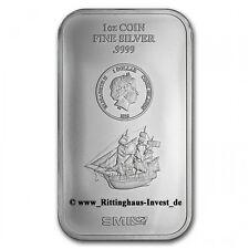 Lingotti d'argento Monete d'argento bullion 1 Oz 1 oz Cook Isole 2015 1$ SMI
